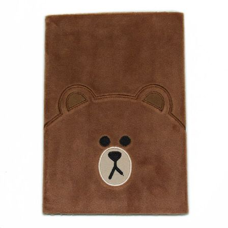 BLUEPRINT COLLECTIONS - Line Friends Plush Notebook Brown