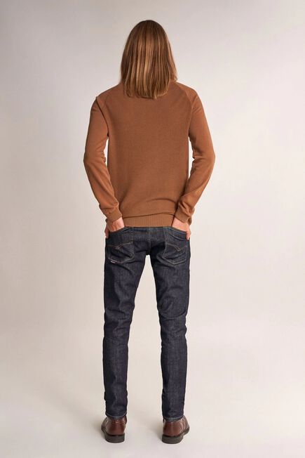 Salsa Jeans - Brown Knitted polo neck sweater