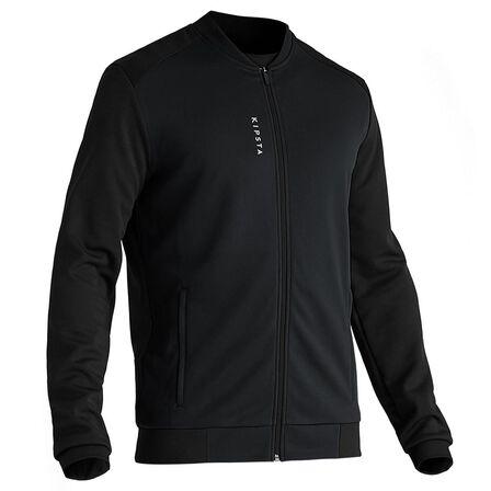 KIPSTA - Extra Large  T100 Adult Light Football Jacket - Carbon, Black