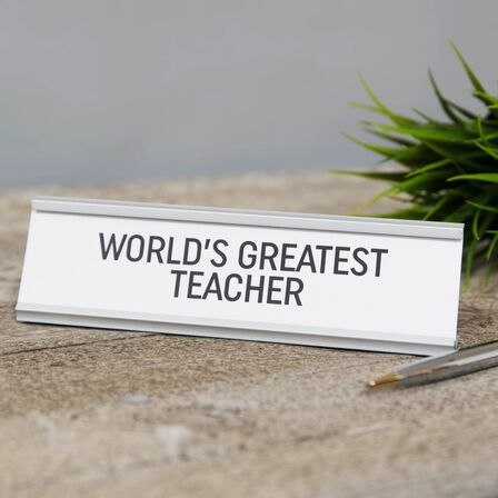 HARVEY MAKIN - Harvey Makin World's Greatest Teacher Desk Plaque
