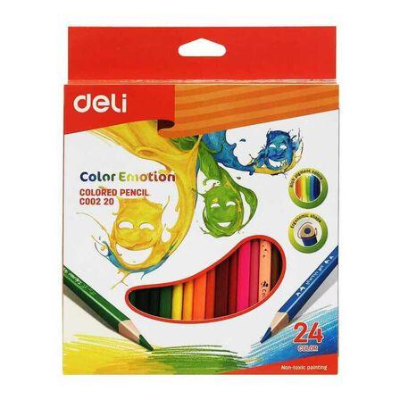DELI - Deli Colored Pencils 24 Colors