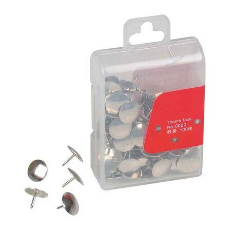 DELI - Deli Thumb Tacks 10 mm 3/8'100 Pcs Per Pp Box