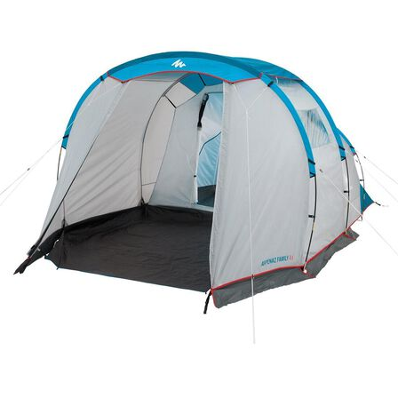 QUECHUA - 4 Persons Camping Tent With Poles - Arpenaz 4.1 - 1 Bedroom