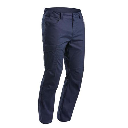 QUECHUA - W30 L33  Men's Nature Walking trousers - NH100, Asphalt Blue