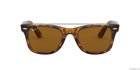 RAY-BAN - Tortoise Square Ray-Ban RB4540 WAYFARER DOUBLE BRIDGE