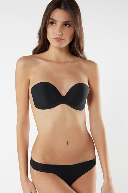 Intimissimi - BLACK Strapless Bra with Transparent Back