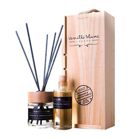 VANILLA BLANC - Vanilla Blanc Grenade & Frosted Vanilla Pomegranate Natural Reed Diffuser