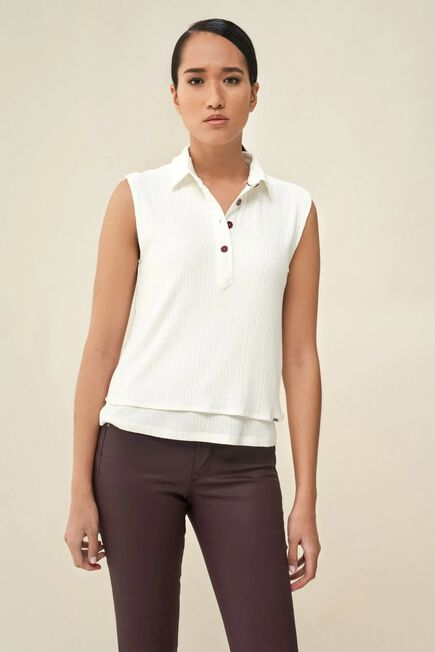 Salsa Jeans - White T-shirt with double front