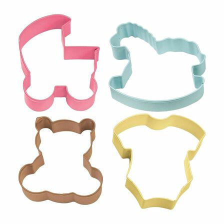 WILTON BRANDS INC. - Wilton Baby Theme Cookie Cutters [Set of 4]