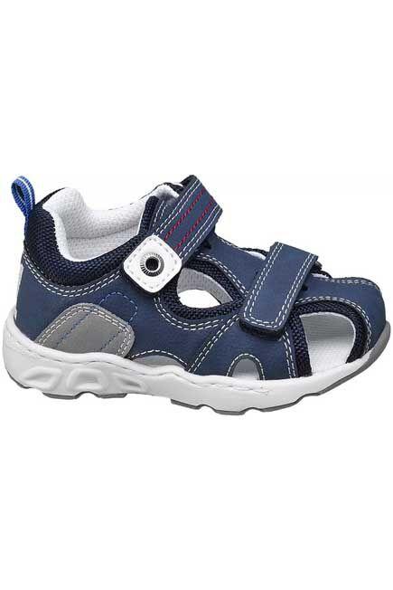 Bobbi-Shoes - Blue Cage Sandals, Kids Boy