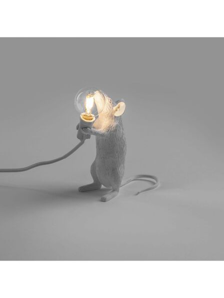 Seletti - Mouse Lamp White Step