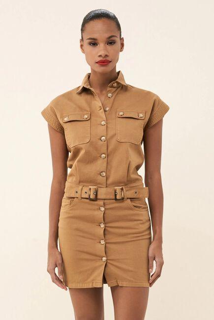 Salsa Jeans - Brown Wonder Push Up dress with belt