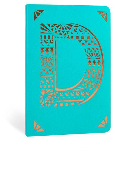 PORTICO DESIGN LTD - Portico Design D Monogram Turquoise A6 Notebook