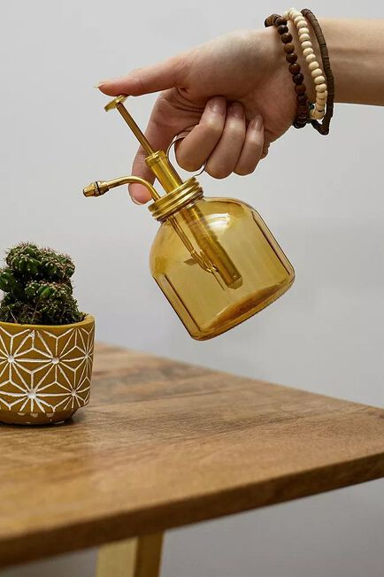 Urban Outfitters - Orange Amber Glass Plant Mister
