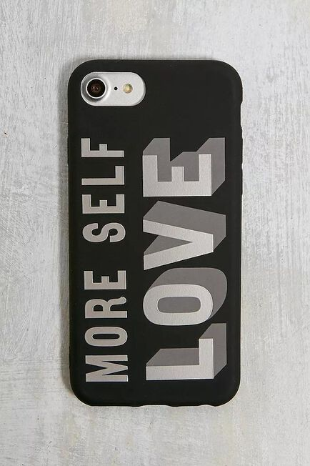Urban Outfitters - Black More Self Love IPhone 6/6S/7/8 Case