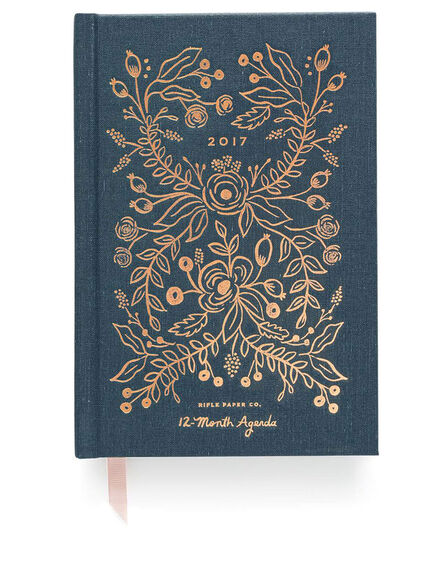 RIFLE PAPER CO. - Rifle Paper Co Hardcover Midnight 2017 Agenda