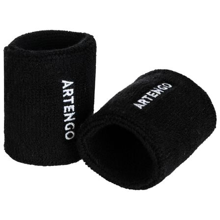 ARTENGO - BLACK  TP 100 Tennis Wristband, Black