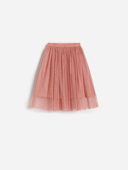 Reserved - Pink Flared polka dot skirt