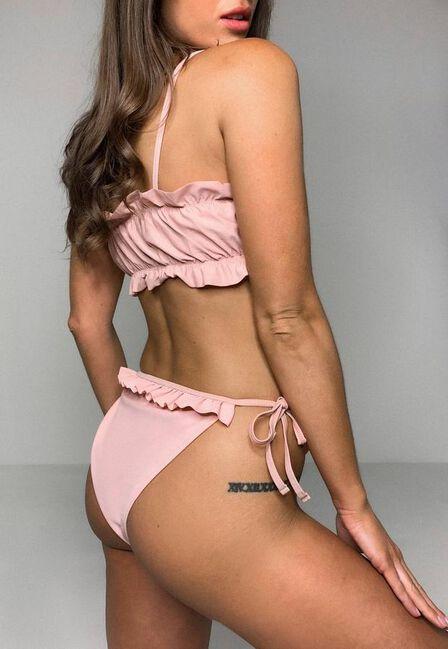Missguided - Pink Pink Tie Side Bikini Bottoms