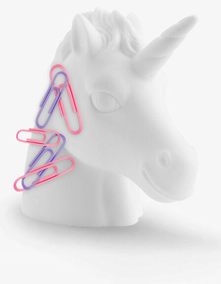 MUSTARD - Mustard Unicorn Head Shaped Paperclip Holder
