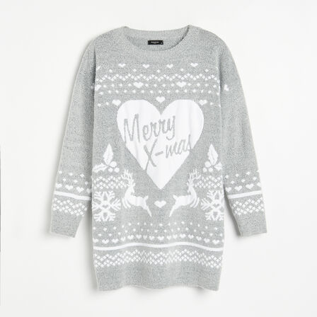 Reserved - Ladies' Sweater - Light Grey