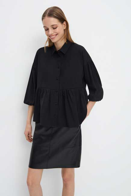 Mohito -  Shirt With Frill - Black