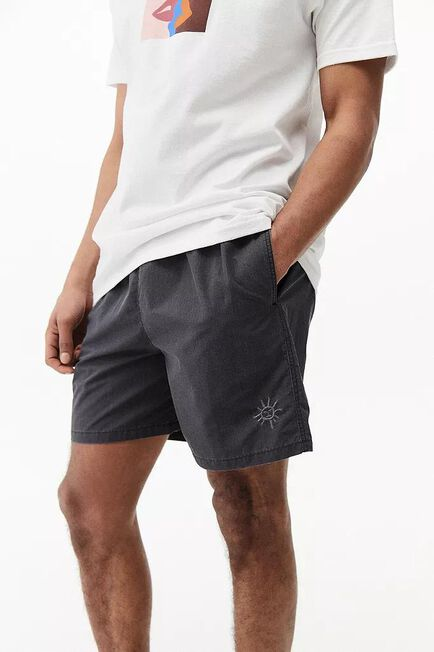 Urban Outfitters - Black UO Nomad Swim Shorts