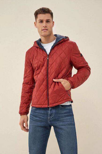 Salsa Jeans - Red Reversible jacket made of recycled material