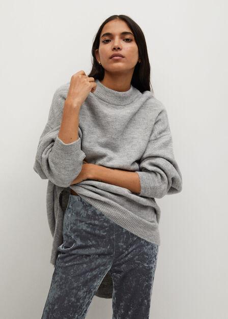 Mango - silver Flared velvet trousers