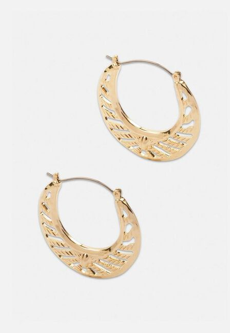Missguided - Gold Gold Look Cut Out Creole Hoop Earrings