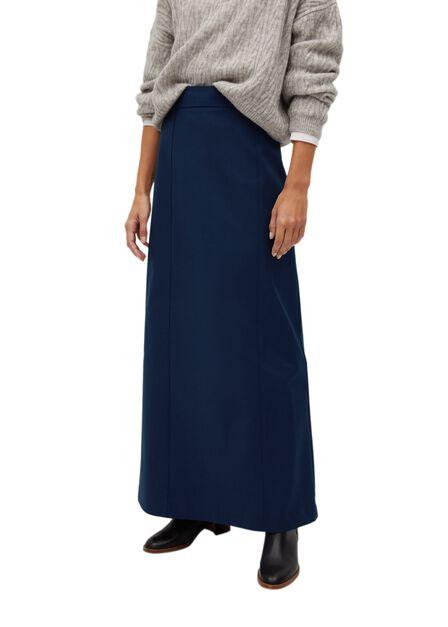 Mango - Navy Flared Long Skirt