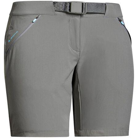 QUECHUA - Large  Women's mountain hiking shorts - MH500, Khaki Grey