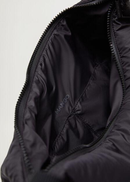 Mango - Black Quilted Bag, Women