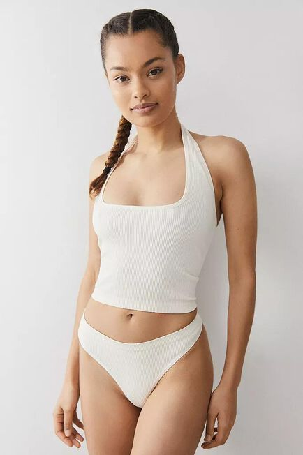 Urban Outfitters - Neutral Out From Under Cindy Solid Thong, Women