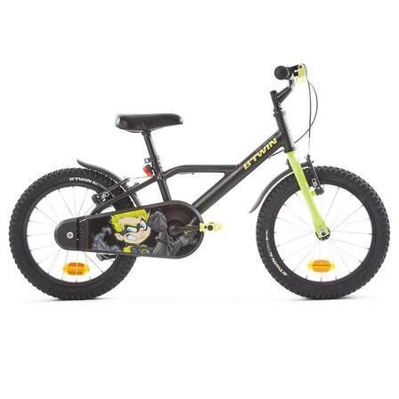 B TWIN - 500 kids' 16-inch bike (4.5-6 years) - dark hero
