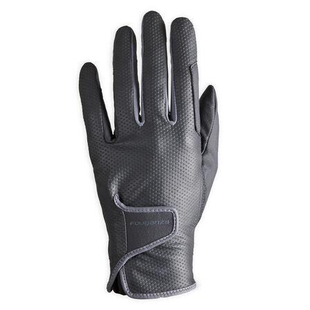 FOUGANZA - Large  Women's Horse Riding Gloves 500, Black
