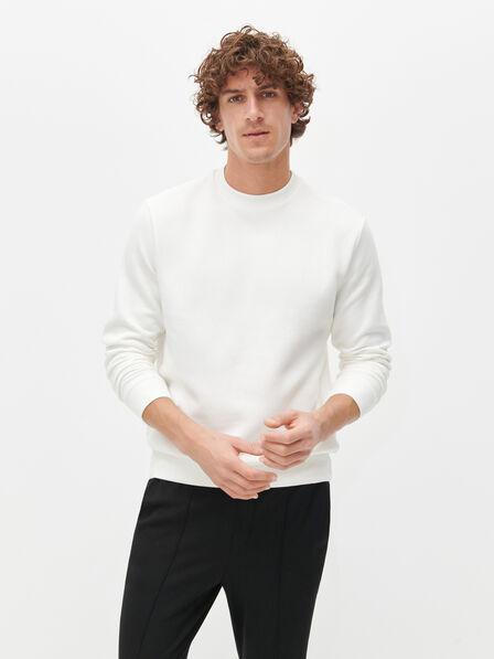Reserved - White Plain Basic Sweatshirt, Men