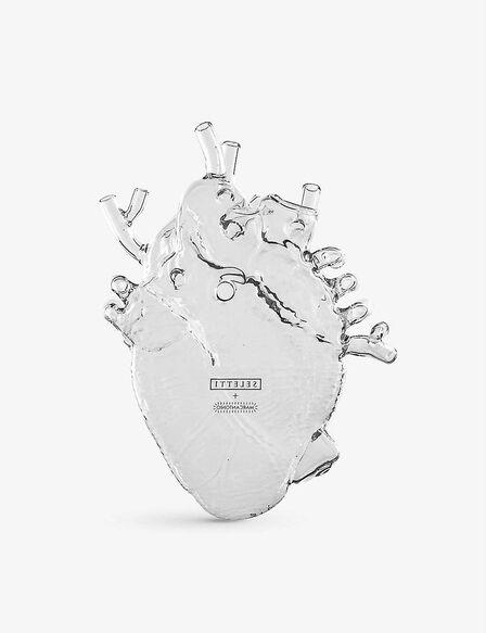 Seletti - Love in Bloom Glass Heart Vase