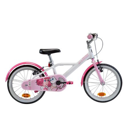 "BTWIN - 16"" kids' Bike Doctogirl 500 (4.5-6Y) - Snow White"