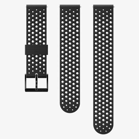 SUUNTO - Suunto 20mm Athletic 1 Silicone Strap Black/Black S+M