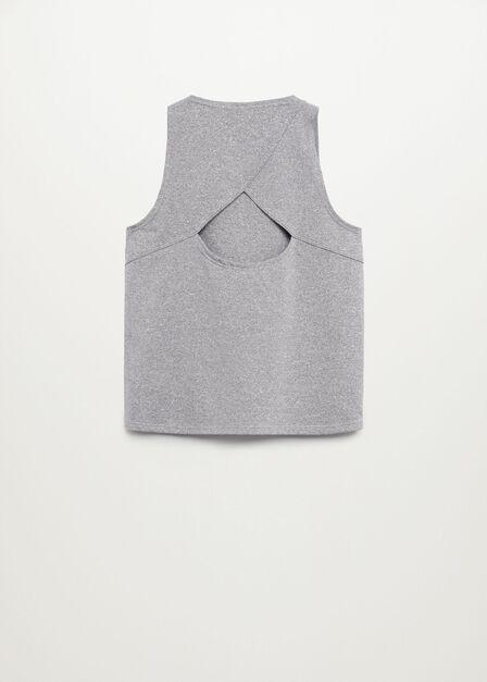 Mango - medium grey Sleeveless technical shirt