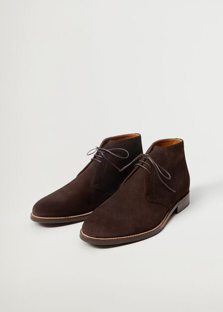 Mango - brown Suede ankle boots