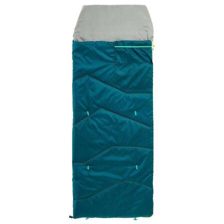 QUECHUA - 10°C Kids Sleeping Bag MH100 - Dark Petrol Blue