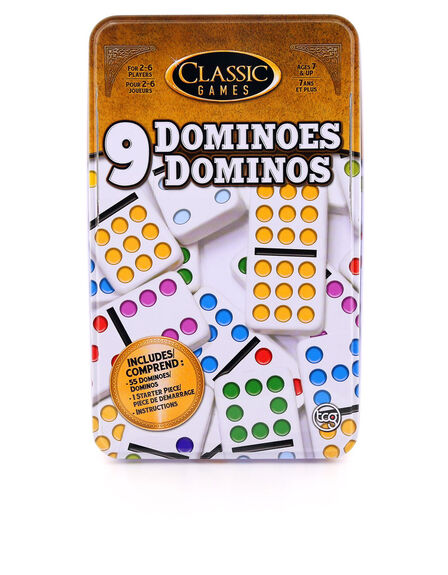 TCG - Double 9 Dominoes In A Tin Board Game