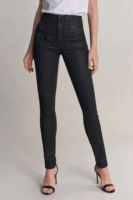 Salsa Jeans - Black Diva slim fit slimming jeans with coating