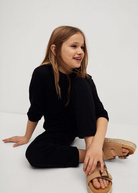 Mango - black Knitted long jumpsuit
