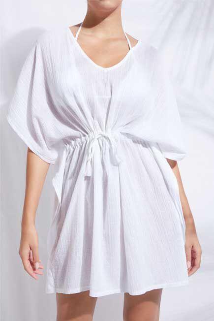 Calzedonia - White Lama Kaftan, Women - One-Size
