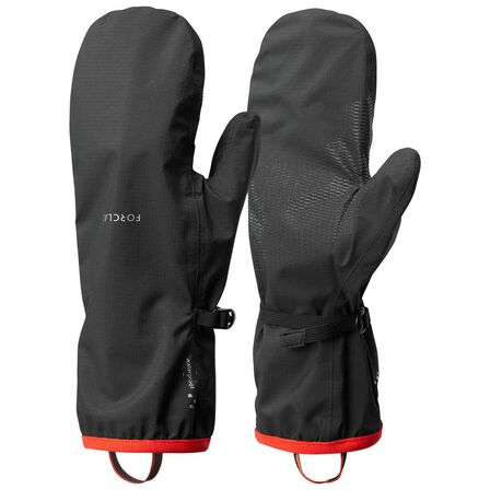 FORCLAZ - XS/S  Adult Mountain Trekking Waterproof Over-Gloves Trek 500 - black, Black