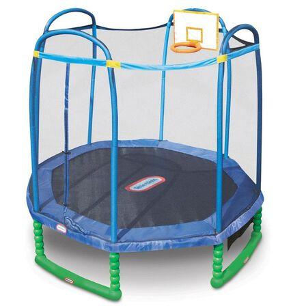 LITTLE TIKES - Little Tikes 10 Feet Sports Trampoline With Basket Ball Hoop