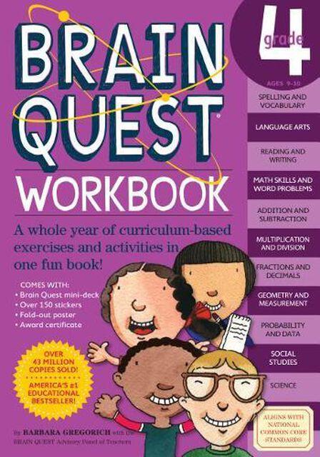 WORKMAN PUBLISHING USA - Brain Quest Workbook Grade 4